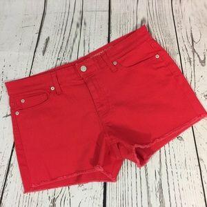 Gap Boyfriend Stretch Raw Hem Jean Shorts